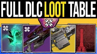 Destiny 2 | Shadowkeep LOOT TABLE! Hidden Rewards, DLC Badges, Essences, Exotic Quests & Raid Gear!