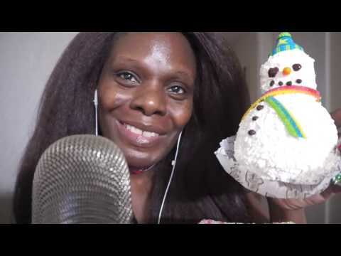 Snow Man | Caramel ASMR Candy Apple