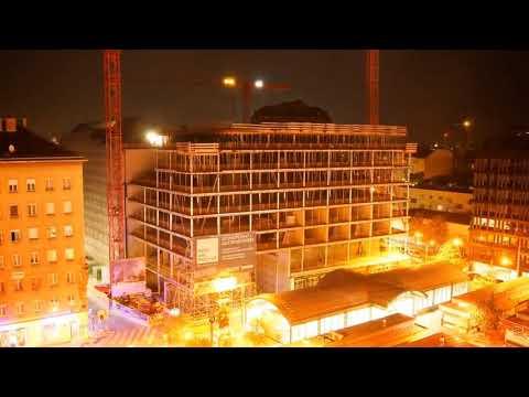 Zeitraffer Abriss + Neubau POST Zentrale Wien