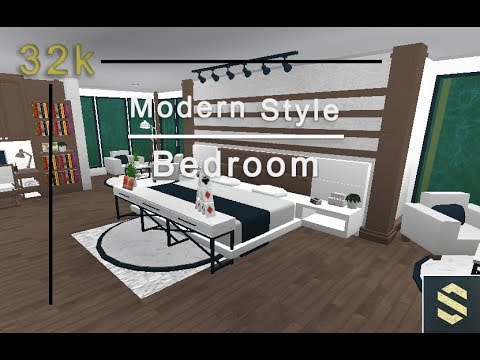 Welcome To Bloxburg: Modern Style Bedroom | Speed Build