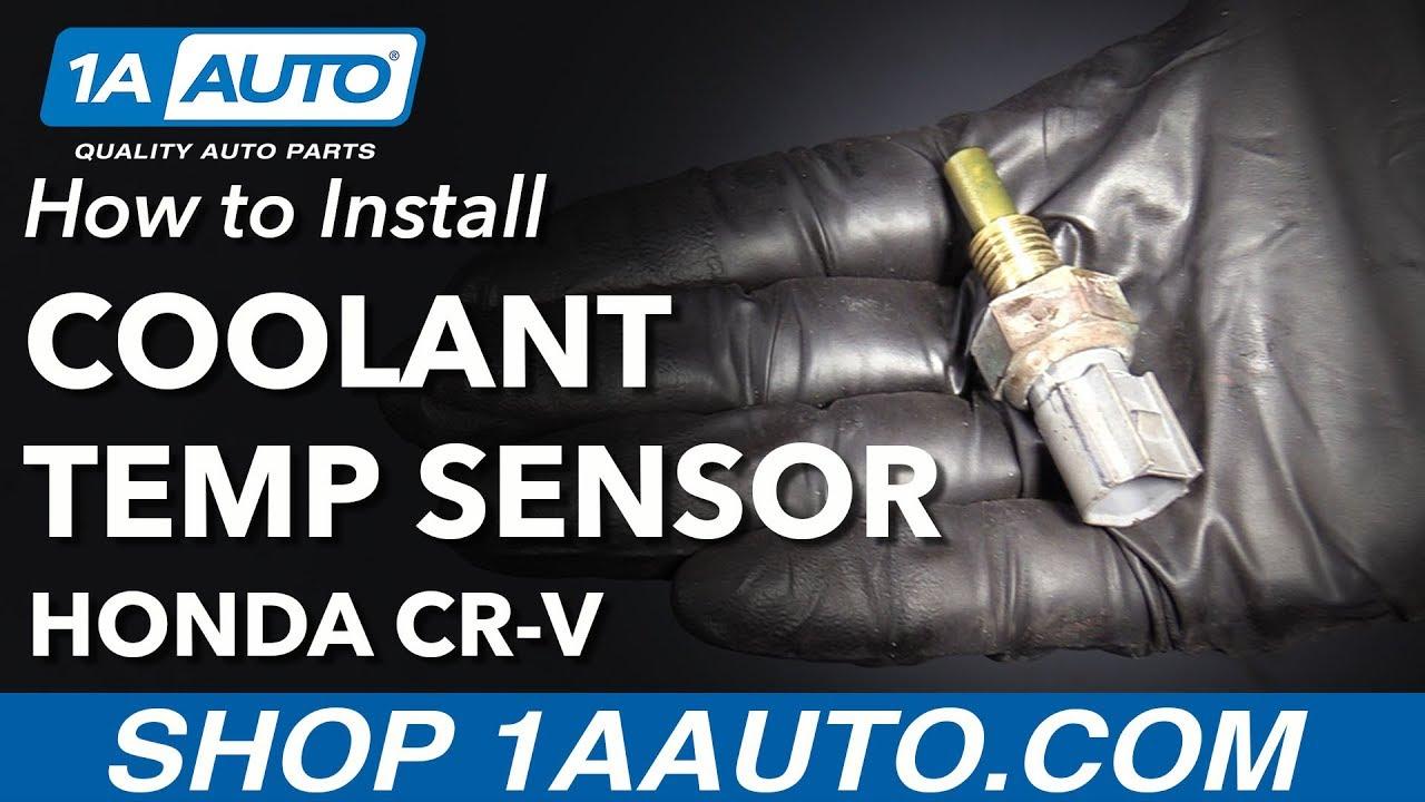 how to replace engine coolant temperature sensor 07 11 honda cr v [ 1280 x 720 Pixel ]