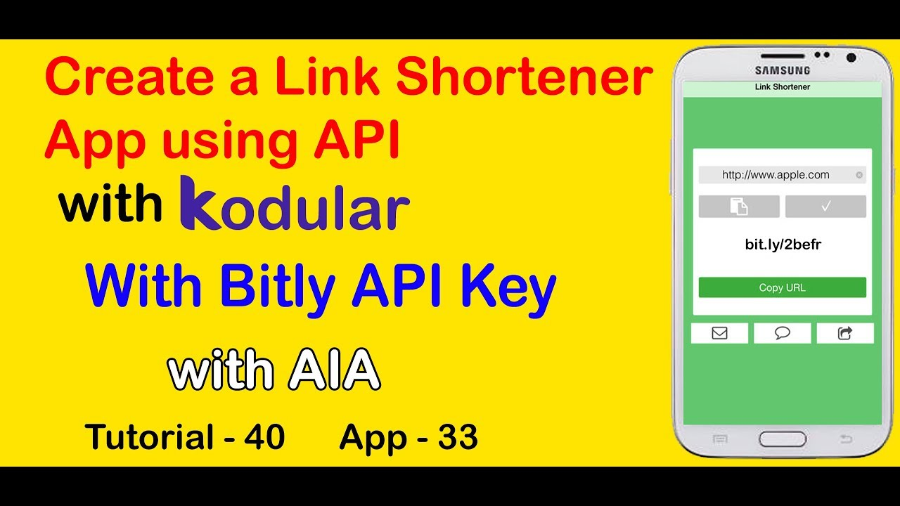Create a Link Shortener App using Bitly API with Kodular