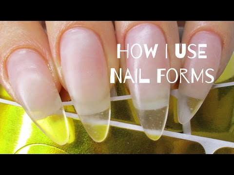 ♡ How to: Easily use nail forms