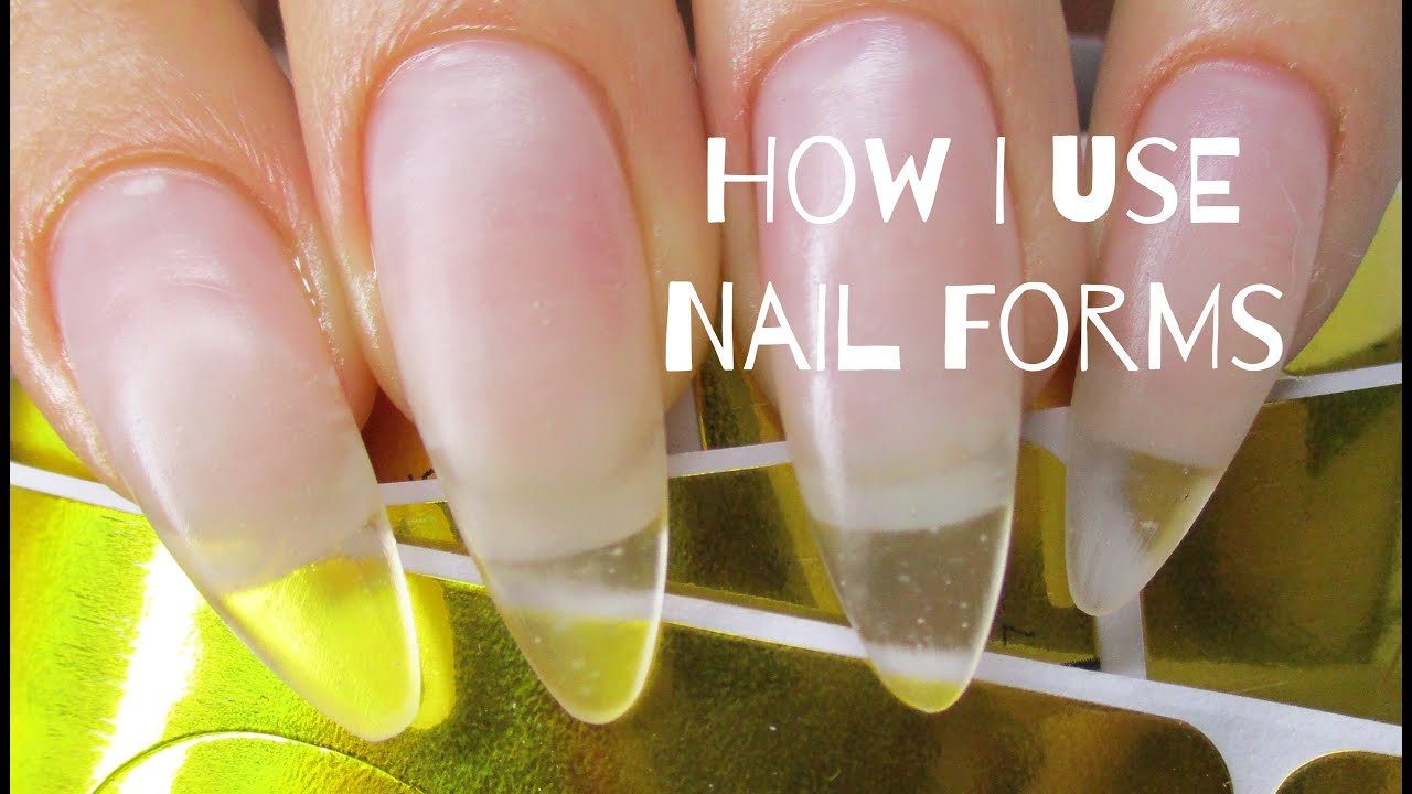 ♡ How to: Easily use nail forms - YouTube