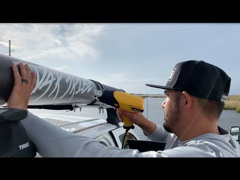DIY Roof Rack Fishing Rod Storage