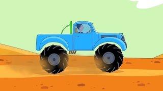 Zeichentrick-Malbuch - Monster-Trucks. Teil 1