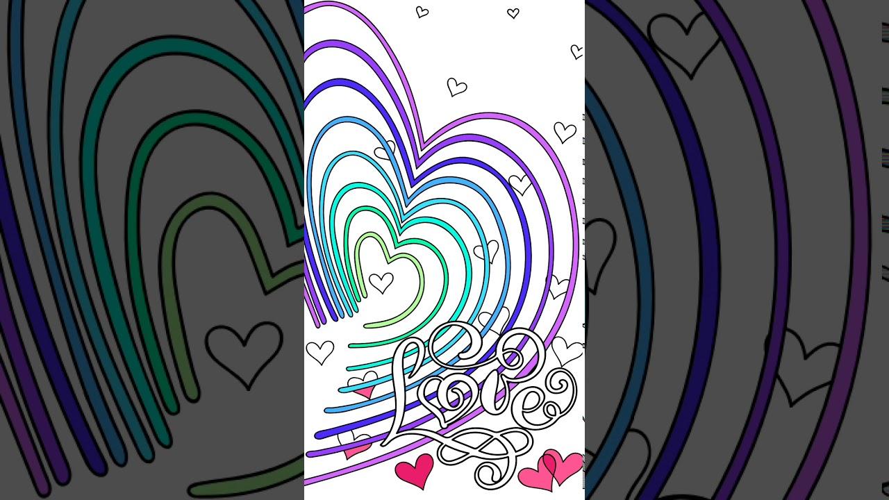 Раскраска по номерам и сердце - YouTube