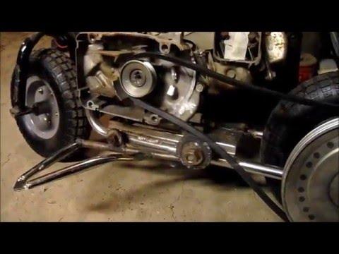 Hongoose Mini Bike Pulleys Clutch And Handlebars Youtube