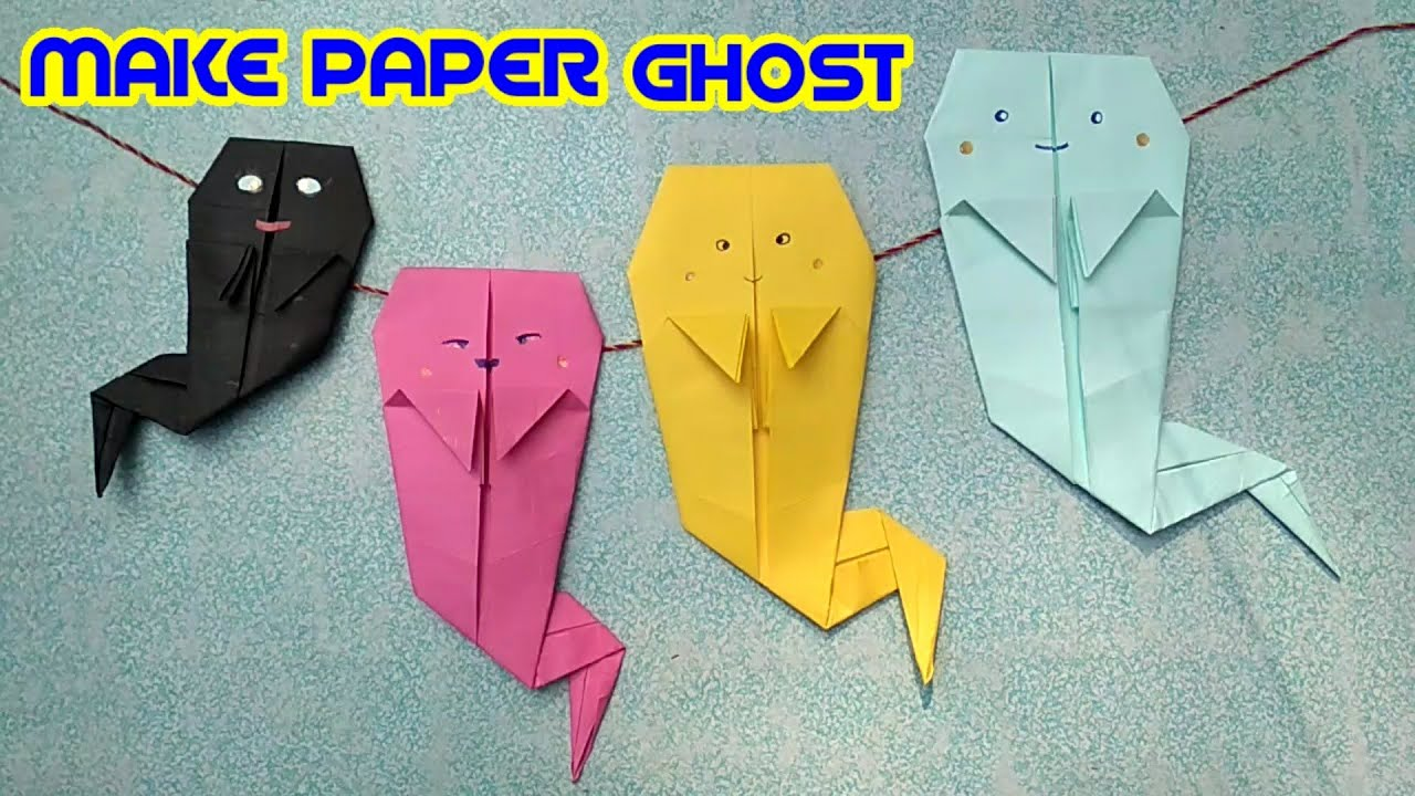 How to make paper origami ghost make cute paper ghost tutorial how to make paper origami ghost make cute paper ghost tutorial jeuxipadfo Choice Image