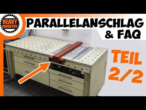 Werkbank mit integrierter Bosch PTS10 (TEIL 2) Parallelanschlag & FAQ