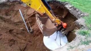 Установка колодцев кабельной канализации 3