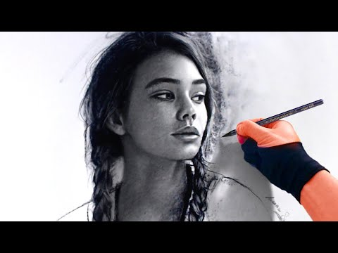 TIGHT FOR TIME? USE CHARCOAL! - The process of drawing with Charcoal Pencil