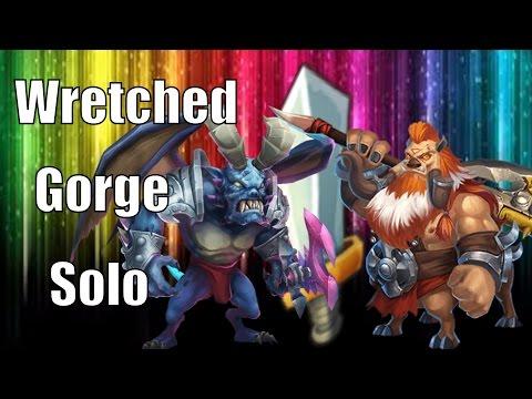 Castle Clash Solo Wretched Gorge 1