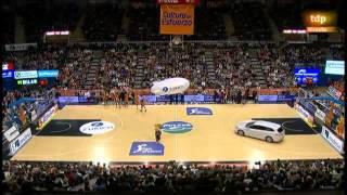 Valencia Basket - Barcelona 1ª parte Narración Juan Carlos Villena 2-2-2014
