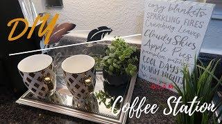 $ Dollar Tree DIYs    Glam FALL Coffee Station IDEAS 2018