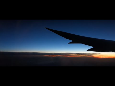 Japan Airlines Boeing 787-8 JL416 Sunset Takeoff at Paris Charles de Gaulle