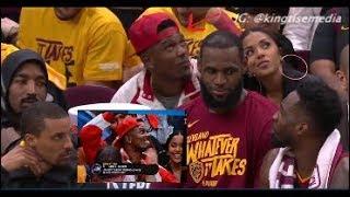 LeBron James Reunites w/ Daniel 'Boobie' Gibson On Cavs Bench During Cavs vs Celtics Game 3