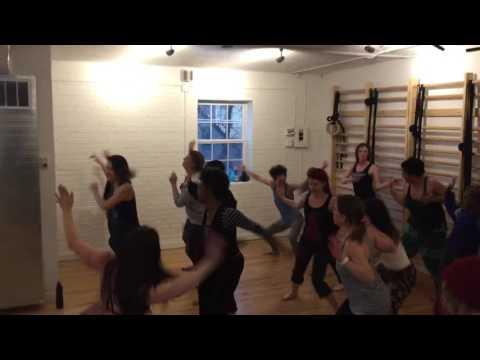 Caitlin teaching an Afro-Brazilian Samba Class for Movement Ritual's Open House