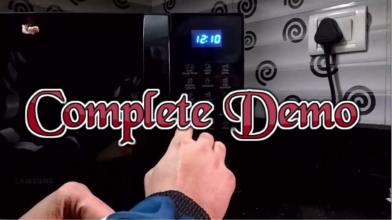 Demo Of Samsung 21 L Convection Microwave Oven Model No