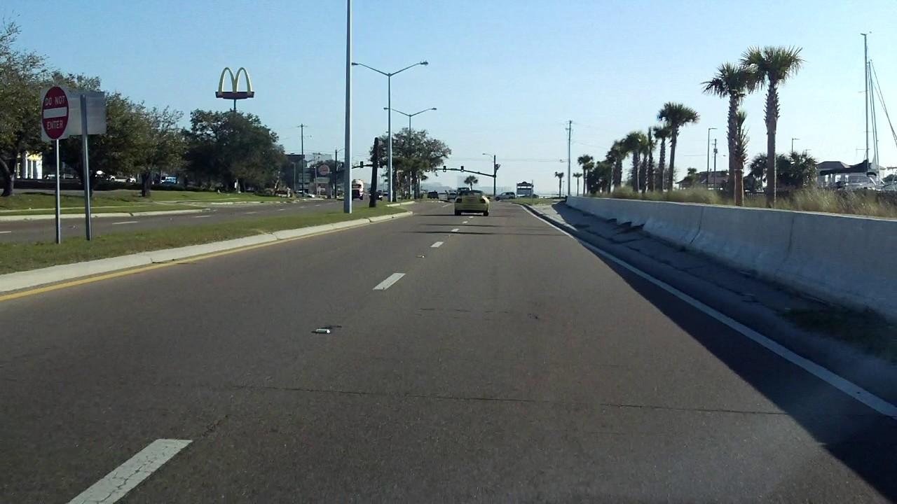 US Mississippi Bay St Louis Bridge To Biloxi Bay Bridge - Us 90 road mississippi map