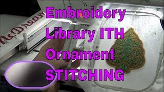 Embroidery Library ITH In the Hoop Christmas Tree Ornament STITCH PT2