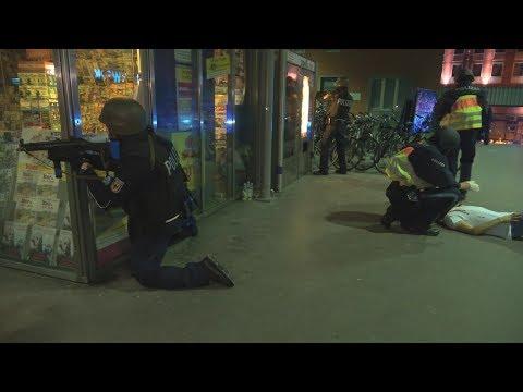 Antiterrorgroßübung im Münchner HBF am 18.04.18 + O-Töne