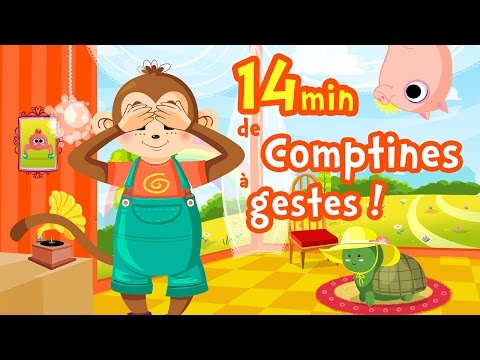 10 belles comptines à gestes pour bébés Ⓓⓔⓥⓐ Chansons avec paroles et animation