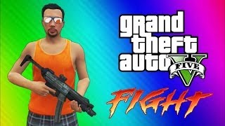 gta 5 online funny moments gameplay epic fight invisible arms golfing car glitch sky diving