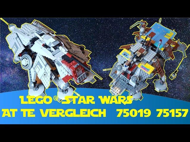Lego Star Wars AT TE Vergleich AT TE Rex 75019 und 75157 (Stop Motion von Bayernbrickz)