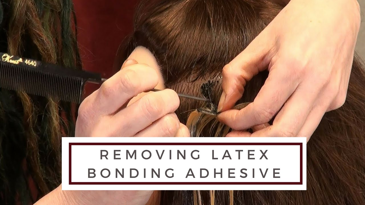Removing Latex Bonded Hair Extension Adhesive Doctoredlocks
