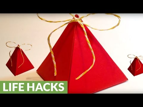How to make a pyramid gift box