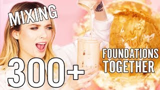 MIXING OVER 300 OF MY FOUNDATIONS TOGETHER!! // MyPaleSkin
