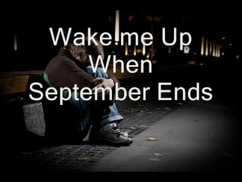Wake me up when september ends with LYRICS
