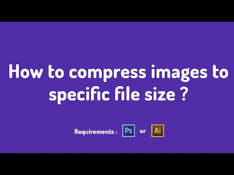 How to quickly compress images to specific size in photoshop?