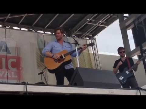 "Chris Carmack singing his new single ""Being Alone"" during CMA Fest 2015- from Front Row"