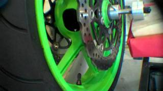 How To Balance Motorcycle Wheels Using A Static Balancer