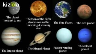 Kizoa Movie - Video - Slideshow Maker: The Solar System