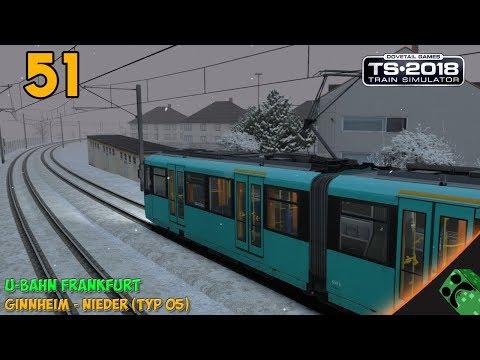 Train Simulator 2018 - U-Bahn Frankfurt - Ginnhaim to Nieder | Gameplay Español