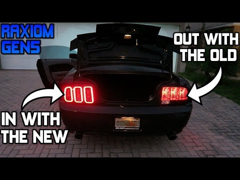 NEW LED TAIL LIGHTS FOR MY BIRTHDAY!! RAXIOM GEN5 INSTALL (05-09 Mustang)