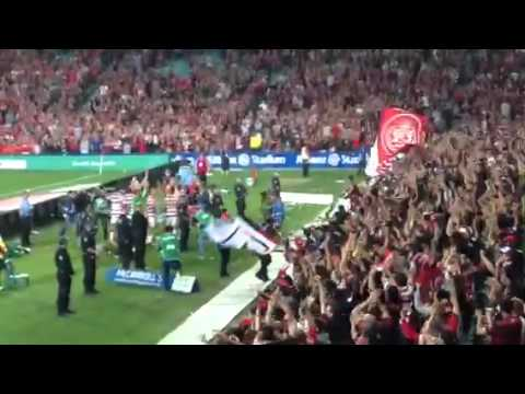 RBB and the Western Sydney Wanderers celebrating