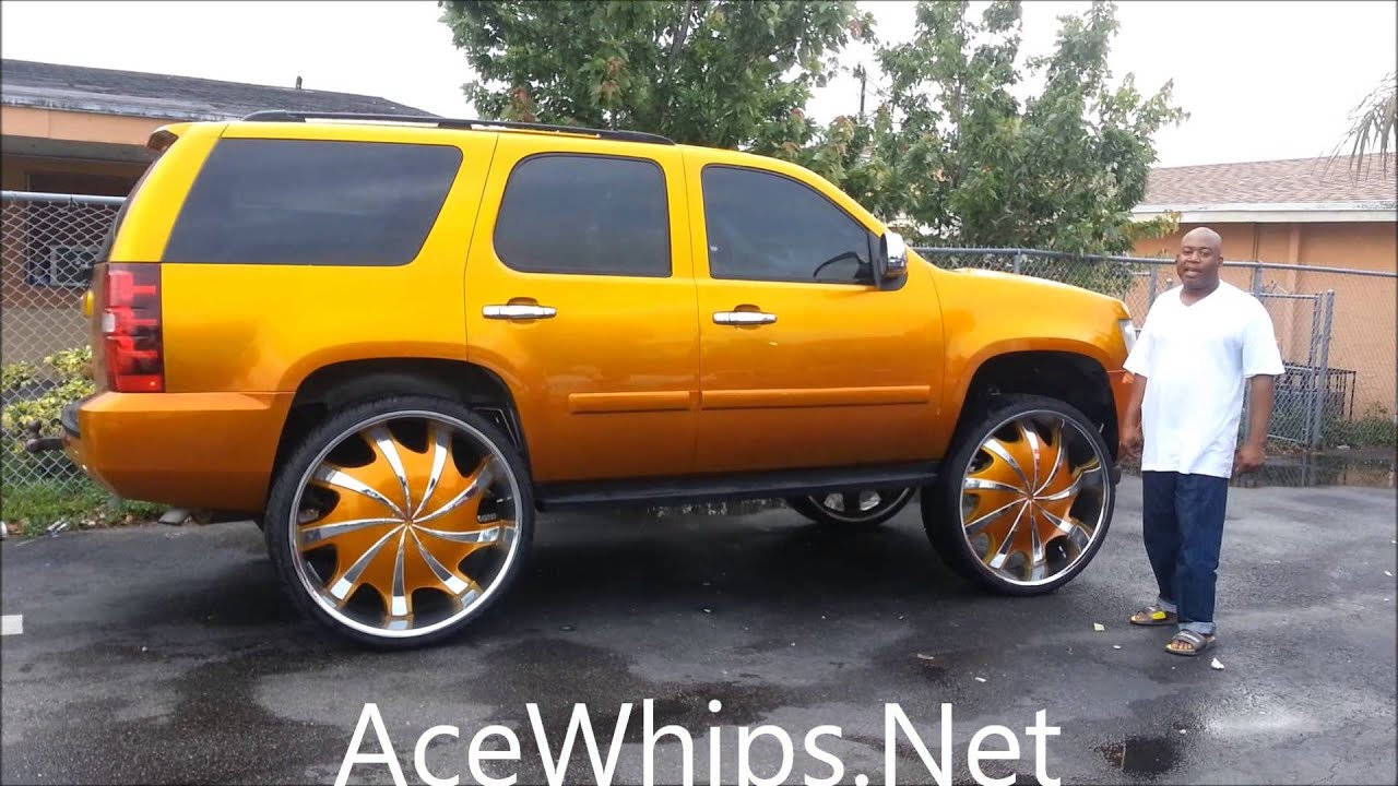 AceWhips.NET- WTW Customs- Candy Gold Chevy Tahoe on 32 ...
