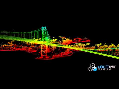 LiDAR Mapping of Vancouver Lions Gate Bridge