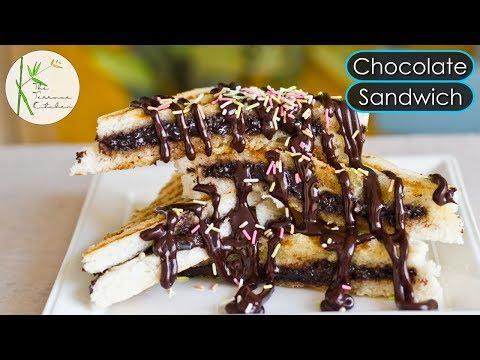 Chocolate Sandwich Recipe | Street Style Choco Sandwich | Kids Lunchbox Recipe ~ The Terrace Kitchen