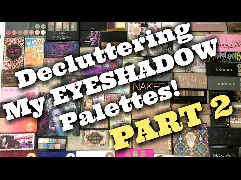 LIVE CHAT: DECLUTTERING My HUGE Eyeshadow Palette Collection