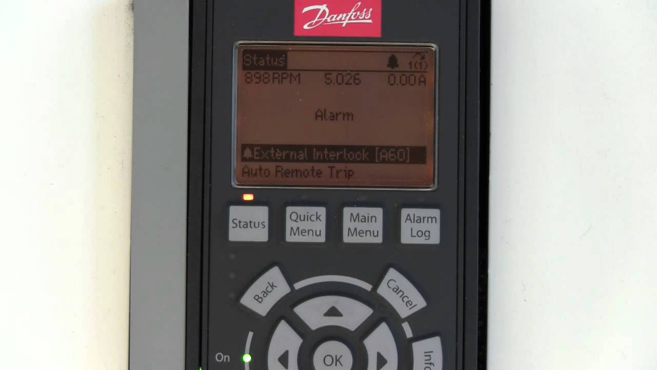Vfd Troubleshooting Danfoss Fc102 Vfd Nha Tutorial