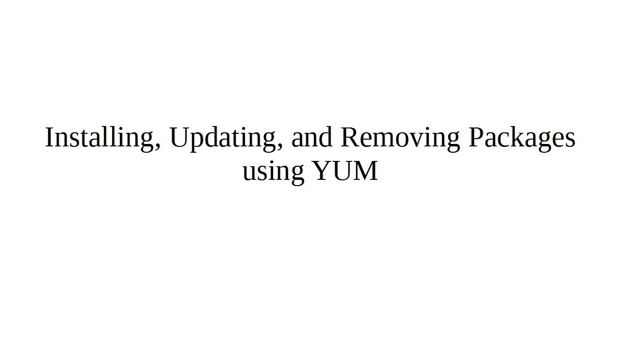 Updating packages using yum