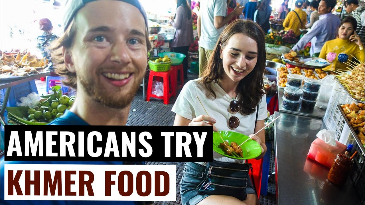 PHNOM PENH FOOD TOUR (Americans Try Cambodian Food)
