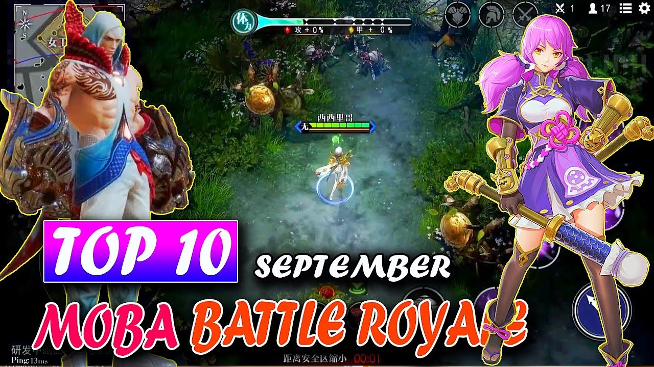 Top 10 New Game Moba Battle Royale In September 2018 Android Ios Gameplay Mobile Arena