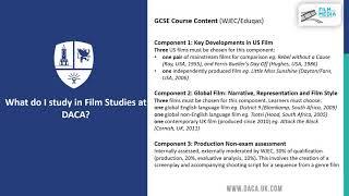 Options Evening - Film Studies