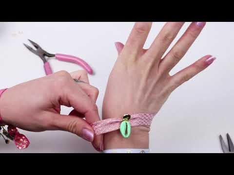 Bijoux à faire soi-même : bracelets d'été avec perles coquillage Cauri + ruban élastique ♡ DIY